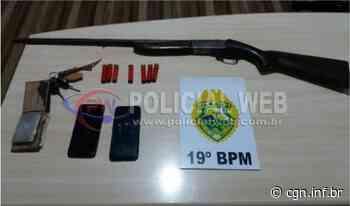 PM apreende espingarda calibre 28 e detém trio em Assis Chateaubriand - CGN