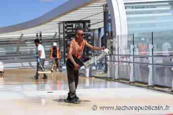 La passerelle du futur Pôle gare, à Chartres, est entrée dans sa phase de finitions - Echo Républicain