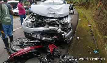 Accidente de tránsito dejó un muerto y un herido en Cauca - W Radio