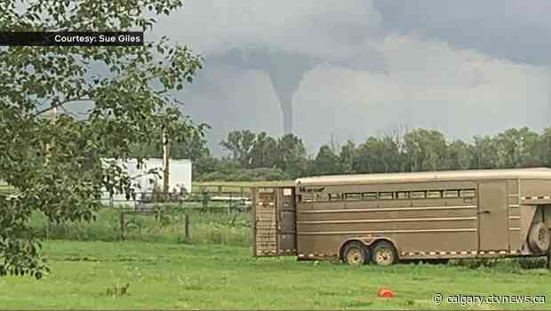Tornado touched down near Brooks, Alta. Tuesday night