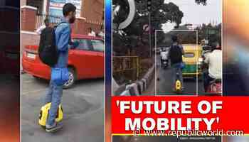 Video: Harsh Goenka shows what he needs to travel in crowded city, tweeple say so cool - Republic World - Republic World