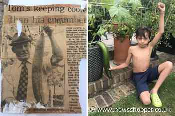 Orpington boy tries to outdo great-great-grandad's cucumber