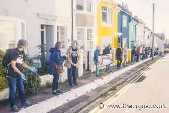 Brighton neighbours unfurl giant scroll of thanks for NHS - The Argus