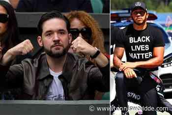 Serena Williams 'Ehemann begrüßt die Anti-Rassismus-Botschaft von Lewis Hamilton - Tennis World DE