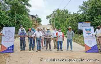 Alcalde de Tamazunchale entrega pavimentación en Piñal - Noticias de San Luis Potosí - Quadratín San Luis