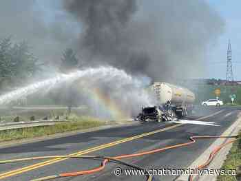 Firefighters called to two fires; one involving fuel tanker, another a home