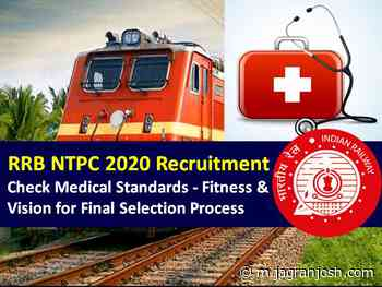 RRB NTPC 2020 Medical Test for 35K+ Vacancies: Check Medical Standards including Fitness & Vision for Final Selection Process - Jagran Josh