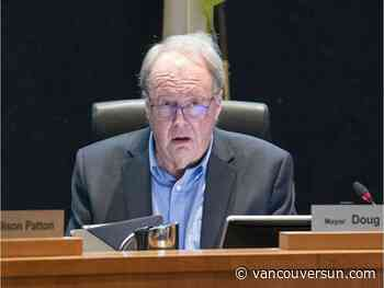 "Surrey Mayor Doug McCallum takes time off due to ""health concern"""