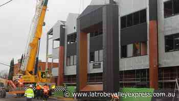 The Latrobe Valley GovHub in Morwell reached a major milestone when modules were hoisted onto the Church Street building front - Latrobe Valley Express
