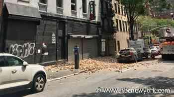 Huge Wall of Bricks Collapses Onto Sidewalk in Manhattan Garage Accident; 1 Hurt: DOB