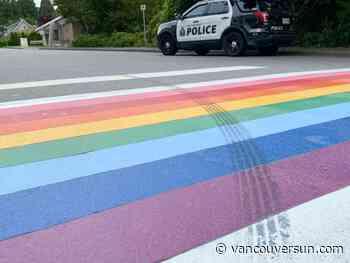 West Vancouver's Pride crosswalk vandalized