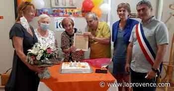 Simiane-Collongue : Anna fête ses cent ans au Val des Sources - La Provence