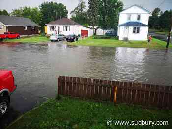 Last night's rain caused flooding in Capreol - Sudbury.com