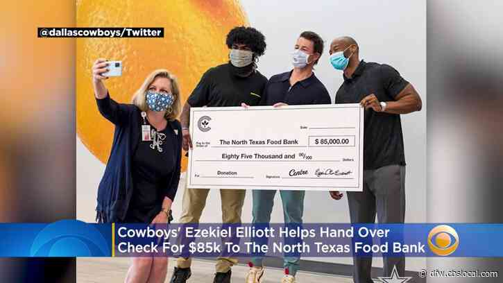 Activewear Company Teams Up With Ezekiel Elliott To Donate $85K To North Texas Food Bank