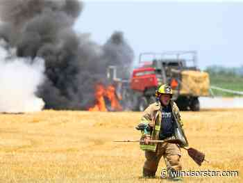 Photos: Agricultural fire on County Road 42
