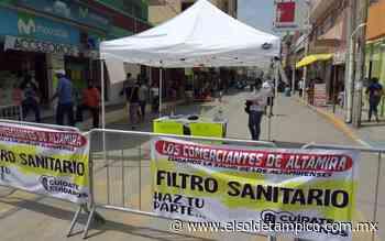 Comerciantes instalan filtro sobre la Hidalgo en Altamira - El Sol de Tampico