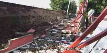 Lluvias hacen colapsar barda en Puente de Ixtla - La Jornada Morelos