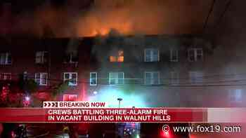 Crews battle three-alarm fire in Walnut Hills building - FOX19