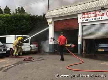Firefighters called to fire at car garage near Thornbury - South Cotswolds Gazette