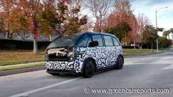 Jay Leno drives Canoo's subscription-only electric van - Green Car Reports