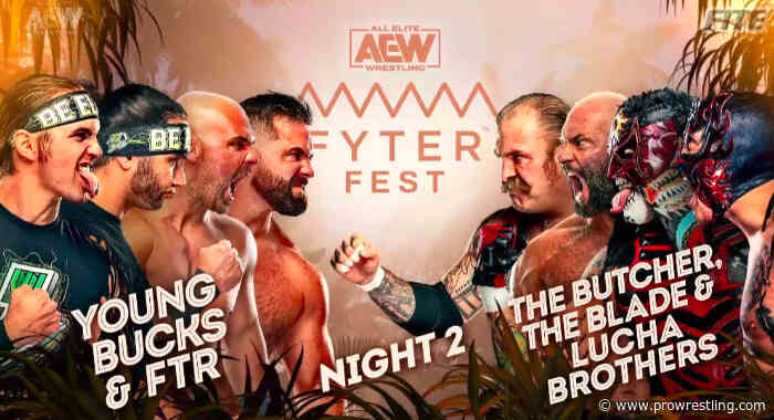 AEW Fyter Fest Results (7/8): Chris Jericho vs Orange Cassidy, Massive 8-Man Tag, World Tag Title Match & More