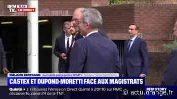 Castex et Dupond-Moretti sont arrivés au tribunal de Bobigny pour rencontrer les magistrats - Actu Orange