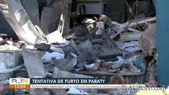 Criminosos explodem duas agências bancárias durante tentativa de assalto em Paraty - G1