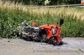 Unfall in Herrenberg - Motorradfahrer kracht in Porsche und wird schwer verletzt - Stuttgarter Nachrichten