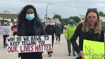 'No justice, no peace' rings through downtown Hay River as people gather for Black Lives Matter - CBC.ca