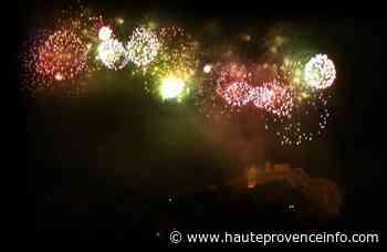 Feu d'artifice du 14 juillet à Sisteron - Haute-Provence Info