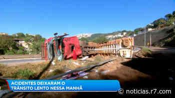 Acidentes geram congestionamento em via de Belo Horizonte - HORA 7