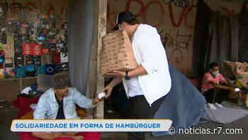 Projeto leva hambúrgueres para moradores de rua de Belo Horizonte - HORA 7