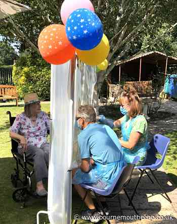 Oakdene Care Home offer garden visits through clear screen - Bournemouth Echo