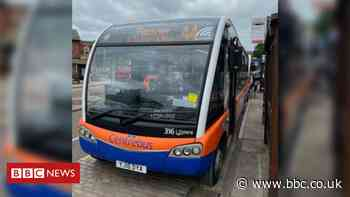 Parking ticket issued to bus in bus stop