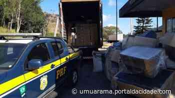 Caminhão que saiu de Umuarama é apreendido com R$ 1,2 milhões em cigarros - ® Portal da Cidade | Umuarama