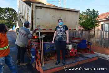 Nerilda Penna visita obras de pavimentação no Alphaville em Arapoti - Folha Extra