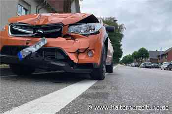 Unfall auf der Münsterstraße sorgte für Vollsperrung am Mittwochabend - Halterner Zeitung