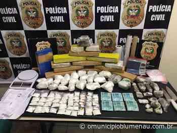 Polícia Civil de Blumenau prende traficante com dez quilos de maconha e três quilos de cocaína - O Município Blumenau