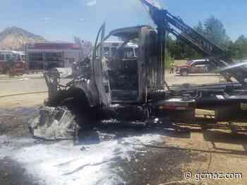 Prescott Fire Crews Tackled A Tractor Trailer Fire Wednesday - KAFF News
