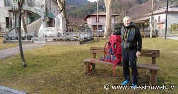 Milazzo ha accolto un alpino che sta attraversando l'Italia a piedi - MessinaWebTv - La WebTv della tua terra -