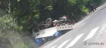 FOTOS/ Fuerte accidente de tránsito provoca caos vehicular en la Troncal del Norte, Apopa - Diario Digital Cronio de El Salvador