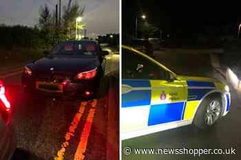 Dartford: BMW with cardboard number plates seized by police