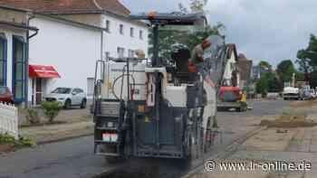 Straßenbau: Arbeiten in der Karl-Liebknecht-Straße in Herzberg haben begonnen - Lausitzer Rundschau