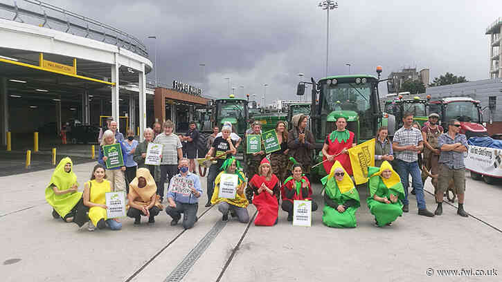 Video: Tractors hit London's streets for food standards demo