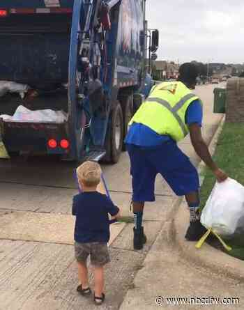 Little North Texan Becomes Sanitation Worker for a Day