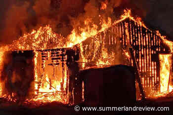 Garage destroyed by flames in Salmon Arm - Summerland Review