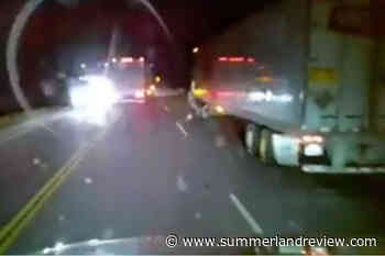 Horrifying video shows near head-on collision on Trans Canada - Summerland Review