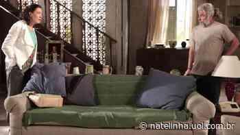 """Fina Estampa: Griselda pede socorro para Pereirinha, mas ex dá uma cafajeste: """"Ciúmes?"""" - NaTelinha"""