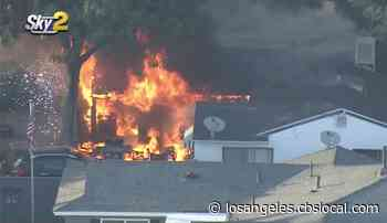 Woman Injured In Northridge House Fire Started By Barbecue - CBS Los Angeles