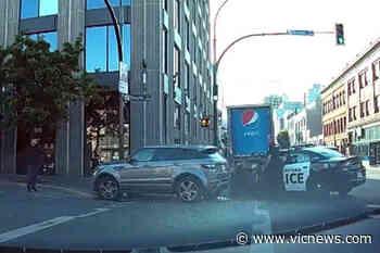 VIDEO: Dashcam footage shows Victoria police-involved crash - Victoria News